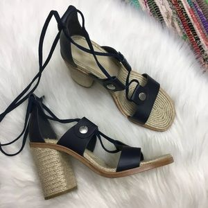 rag & bone Eden Lace Up Gladiator Sandal US 9 Navy